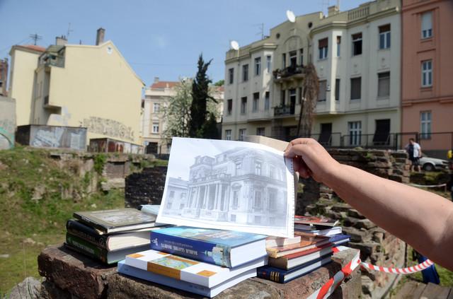 Mesto srušene biblioteke na Kosančićevom vencu