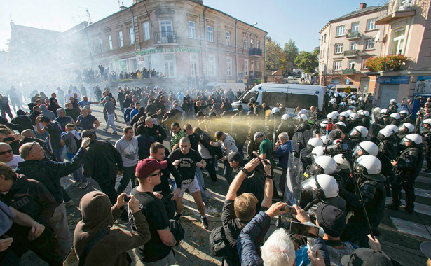 Lublin, starcia policji z narodowcami
