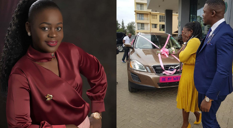 City Doctor Proposes to Akothee's Sister Cebbie, gifts her brand new Car (Photos)