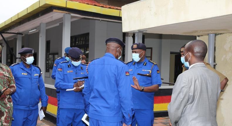 Inspector General Hillary Mutyambai with senior officers