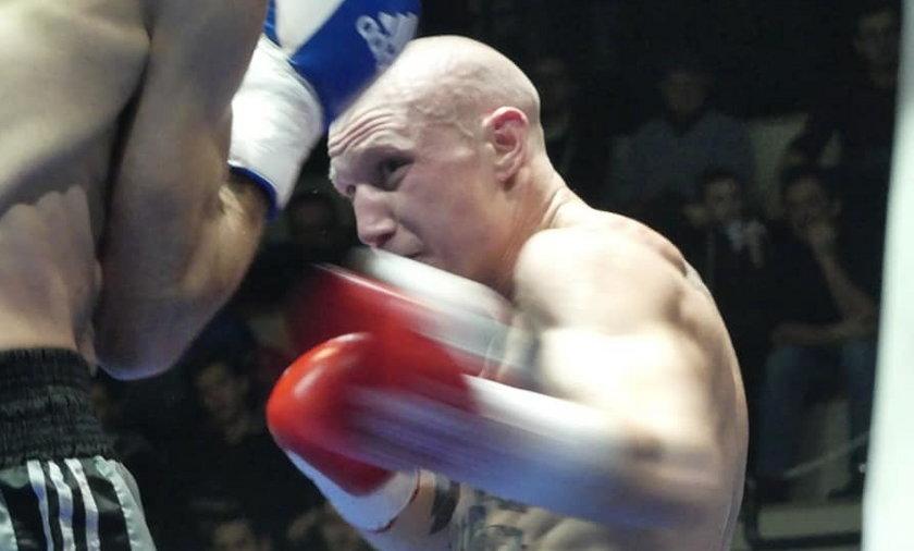 Michele Broili podczas walki.