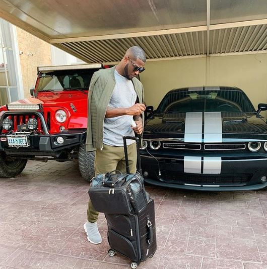 This is not the first time we are getting to see Peter Okoye's garage and we loveeeee it [Instagram/PeterPsquare]