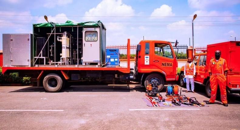 One of the disaster risk reduction equipment donated to Nigeria by the Japanese Government. [NAN]
