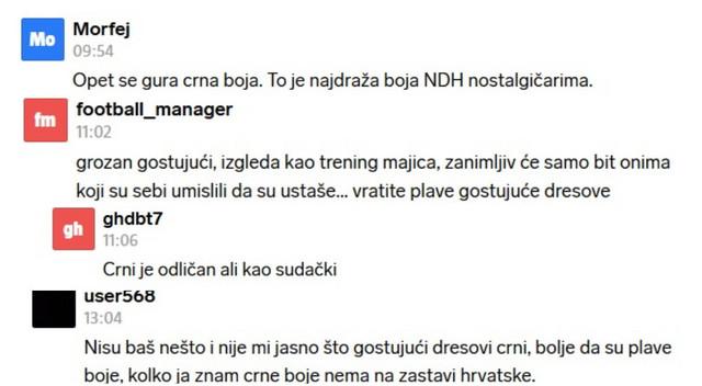 """Reakcije nekih od nezadovoljnih hrvatskih navijača na novi dres """"vatrenih"""""""