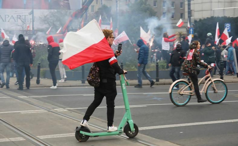 Marsz Niepodległości w formie rajdu