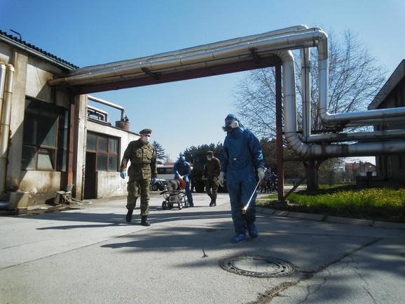 Ruski stručnjaci su otpočeli dezinfekciju Opšte bolnice u Valjevu