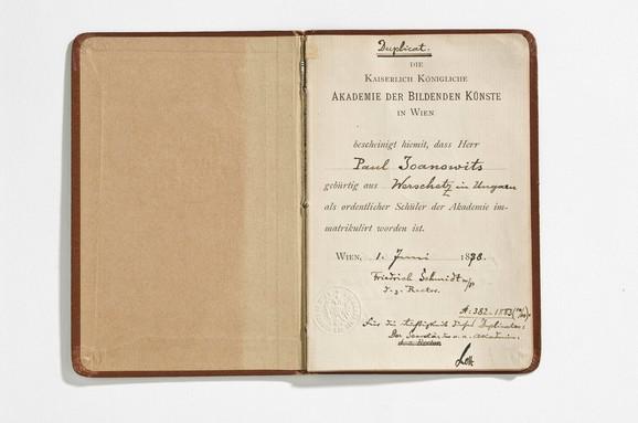 Indeks Paje Jovanovića, Beč, 1878.