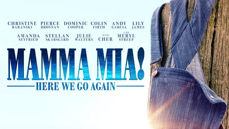 "Plakat reklamujący film ""Mamma Mia 2: Here We Go Again"""