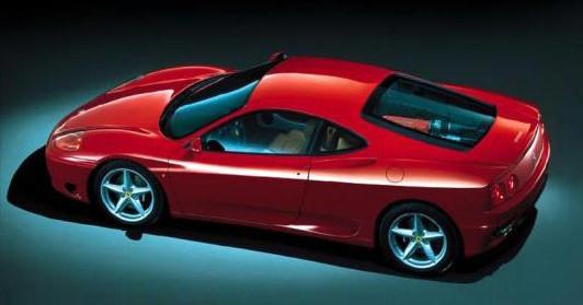 Podobnym samochodem jechali dziennikarze - Ferrari 360 Modena