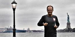 Donald Tusk biega w Nowym Jorku. Uwagę internautów przykuł jeden szczegół