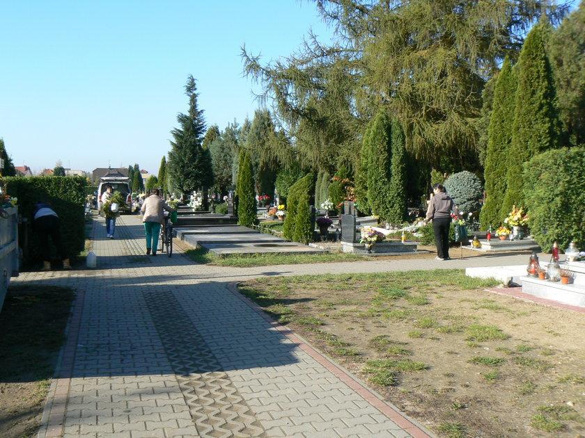 Zniczomat na cmentarzu na Smochowicach
