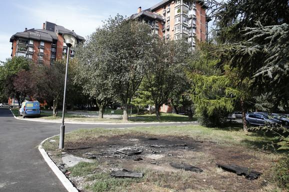 Mesto gde se dogodila eksplozija