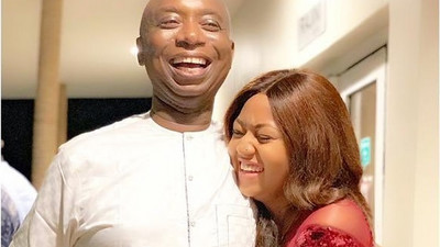 Regina Daniels shares cute photos of husband Ned Nwoko and son on a private jet