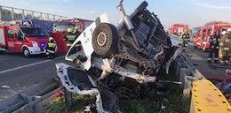 Potworny wypadek na A2. Jedna osoba zginęła, są ranni