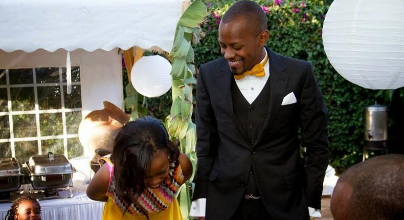 JB Masanduku during a friends wedding