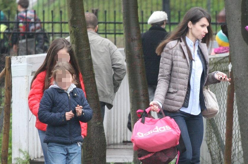 Marta Kaczyńska z córkami