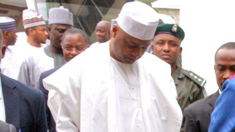 Senate President, Bukola Saraki at the Code of Conduct Tribunal (CCT) on March 24, 2016.