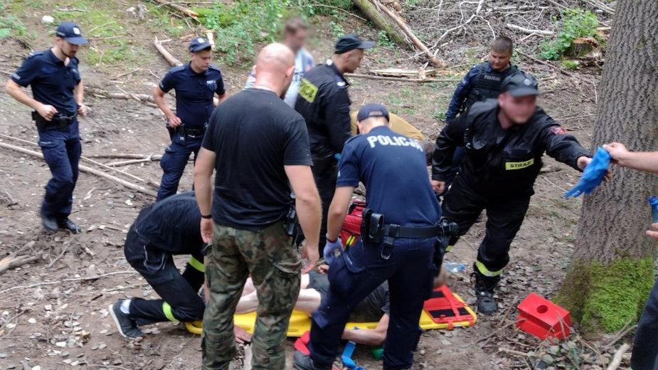 73-latka odnaleziono w wąwozie