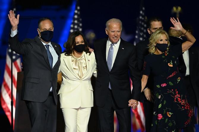 Kamala Haris sa mužem i Džo Bajden sa suprugom