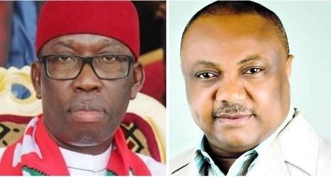Delta state governor Ifeanyi Okowa and APC governorship candidate Great Ogboru