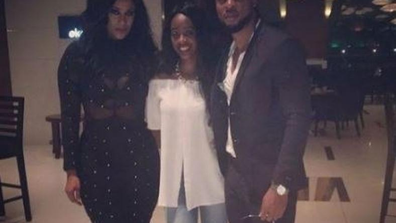 Sandra Okagbue, Flavour and a guest at her birthday dinner