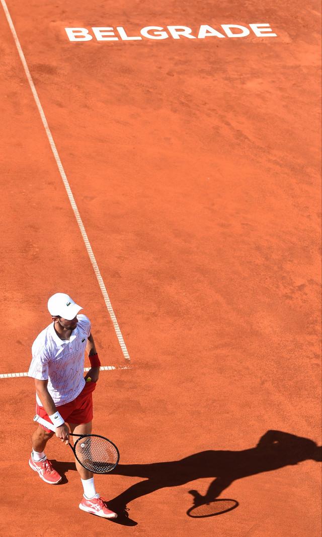 Detalj sa meča Novak Đoković - Aleksandar Zverev na Adria tour turniru u Beogradu