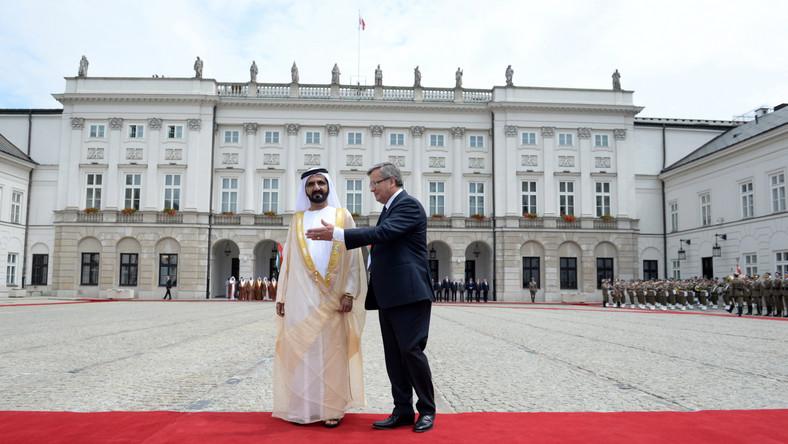 Szejk Dubaju w czasie wizyty w Polsce ma też spotkać się z prezydentem-elektem Andrzejem Dudą. Mohammed bin Rashid Al-Maktoum to najwyższy rangą emiracki polityk od czasu, gdy w 1989 roku Polska i Emiraty nawiązały stosunki dyplomatyczne.