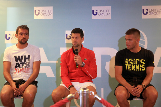 Marin Čilić, Novak Đoković i Borna Ćorić