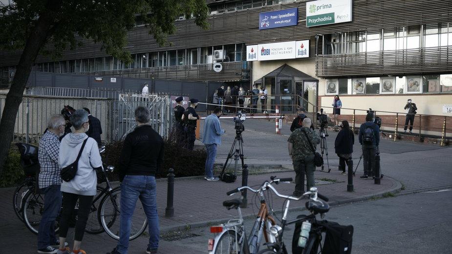 Na zdjęciu siedziba PiS w Warszawie