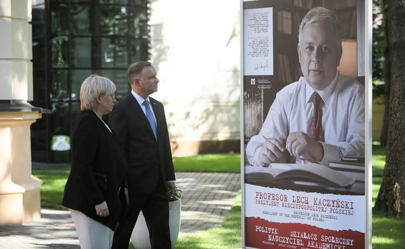 Andrzej Duda, Julia Przyłębska na wystawie