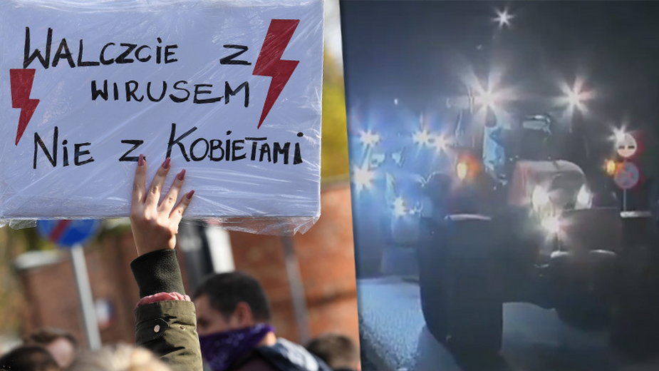 Protesty w ramach strajku kobiet odbywają się w całej Polsce