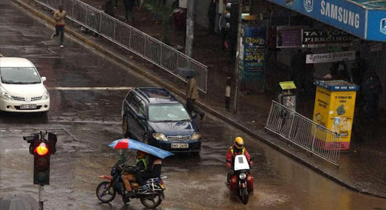 File image of Nairobi streets during a past rainy season
