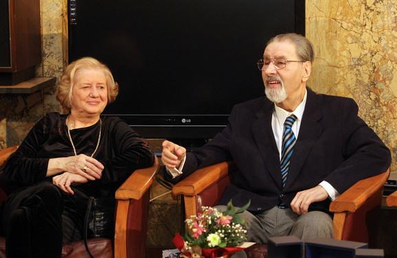 Cune Gojković sa suprugom Leposavom