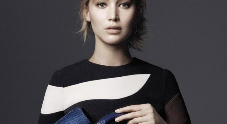 Jennifer Lawrence for Dior Fall/Winter 2015 accessories campaign