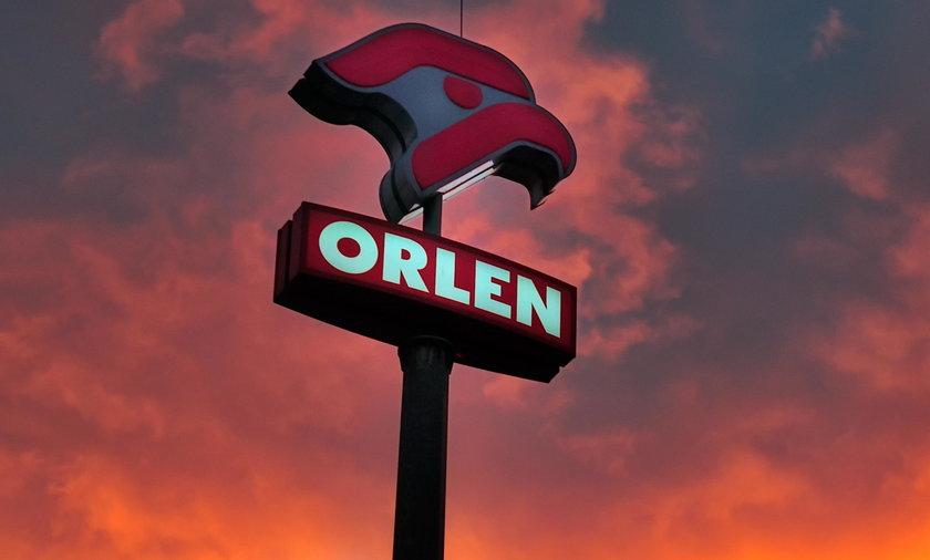 Pylon reklamowy Orlen