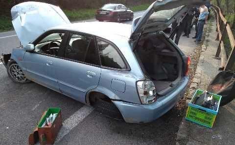 Kierowca z Polski uciekał z miejsca wypadku na Słowacji. Policjanci nie patyczkowali się z nim