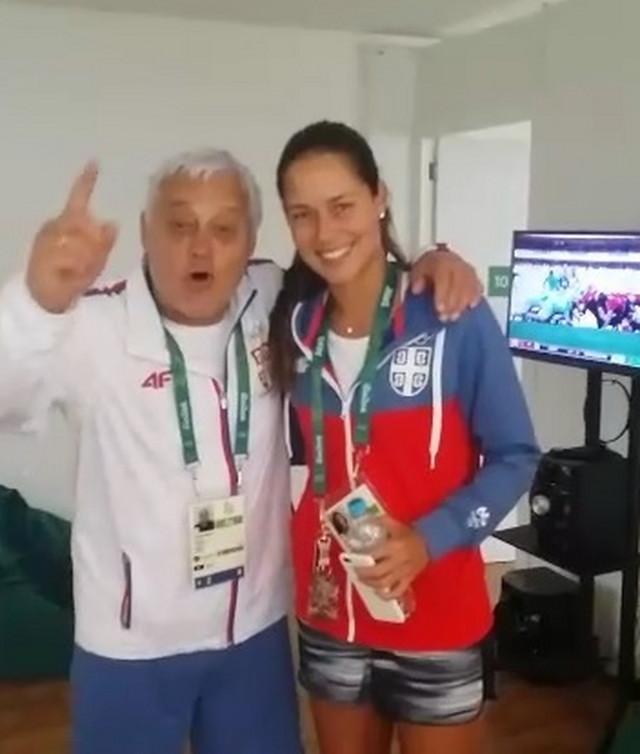 Miroslav Nikolić i Ana Ivanović u Olimpijskom selu