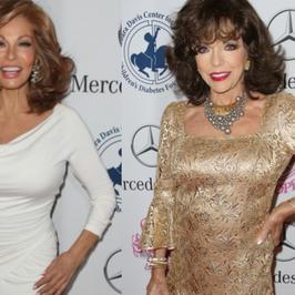 Seksowne Joan Collins i Raquel Welch na jednej imprezie