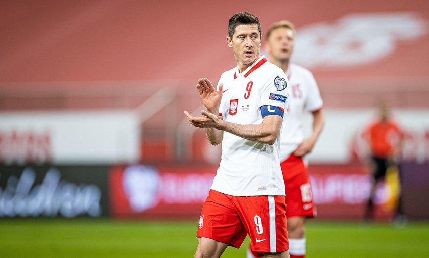 Robert Lewandowski w meczu reprezentacji Polski