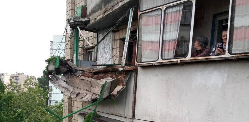 Balkon runął z piątego piętra. Winny hodowca truskawek