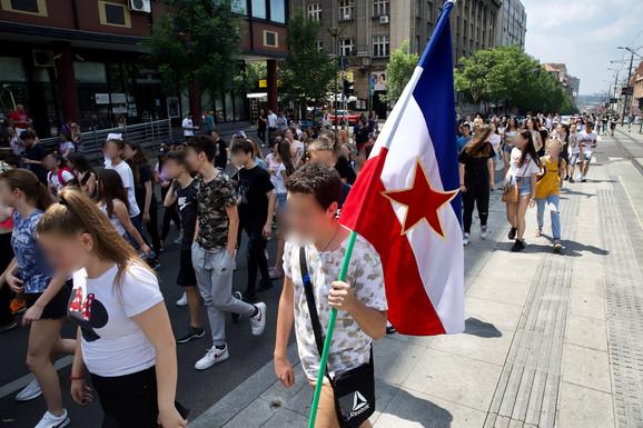 Prizor sa današnjeg protesta