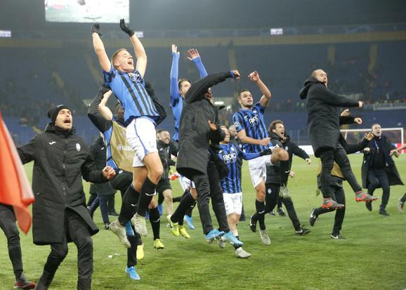 Fudbaleri Atalante slave podvig protiv Šahtjora i o(p)stanak u Ligi šampiona