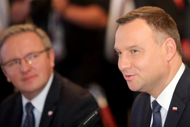 Prezydent Andrzej Duda i Krzysztof Szczerski