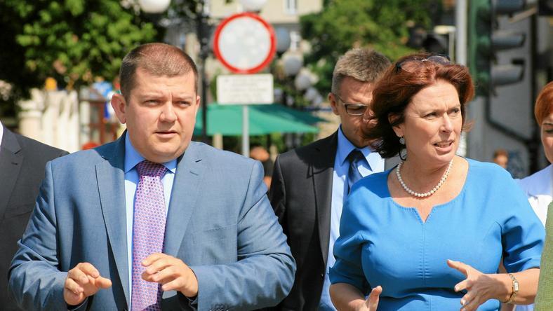 Prezydent Gorzowa Wlkp. Jacek Wójcicki i Malgorzata Kidawa - Blonska