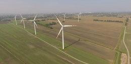 Elektrownia wiatrowa widziana z lotu ptaka