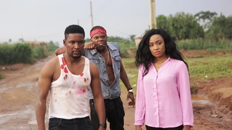 "Sambasa Nzeribe, Wale Ojo and Uru Eke behind the scenes of new Nollywood movie ""No Way Out"" [Photos]"