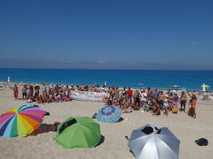 protest na plaži
