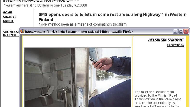 Za toaletę w Helsinkach zapłacisz SMS-em