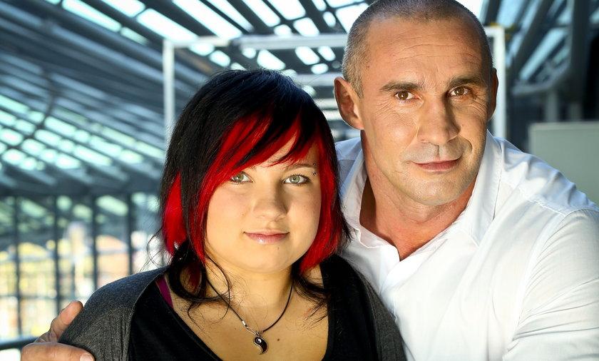 Przemysław Saleta z córką Nicole Saleta