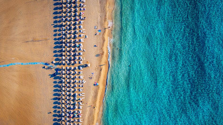 Plaża w Grecji (Zdjęcie ilustracyjne)